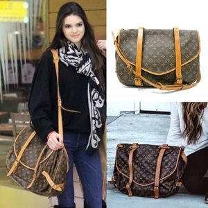 💯LARGE DISCONTINUED Louis Vuitton CROSSBODY